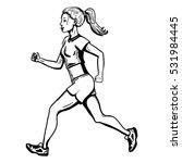 vector sketch female character. ... | Shutterstock .eps vector #531984445