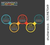 infographics template with 5... | Shutterstock . vector #531987049
