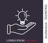 line icon  idea | Shutterstock .eps vector #531987901