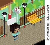 cartoon character life in front ... | Shutterstock . vector #531988405
