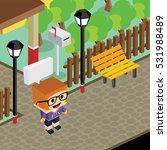 cartoon character life in front ... | Shutterstock . vector #531988489