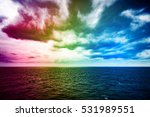 atlantic ocean with dramatic... | Shutterstock . vector #531989551