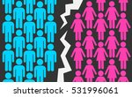 crack between gender symbols as ... | Shutterstock .eps vector #531996061