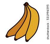 isolated banana fruit design | Shutterstock .eps vector #531996595