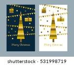gold card merry christmas.... | Shutterstock .eps vector #531998719