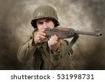 Young American Soldier Ww2 Wit...