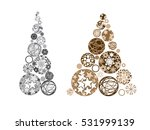 vector stylized christmas trees | Shutterstock .eps vector #531999139