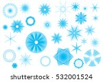 crystallized radiant star... | Shutterstock .eps vector #532001524