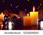 burning candles flame light at... | Shutterstock . vector #532004065