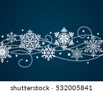 Winter background with snowflake silhouettes. New Year decoration. Vector ornament with beautiful snowflakes