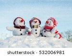 happy snowman family   Shutterstock . vector #532006981
