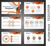 orange presentation template... | Shutterstock .eps vector #532019539