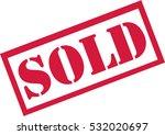 sold stamp | Shutterstock .eps vector #532020697