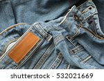 blue jeans pants with back... | Shutterstock . vector #532021669