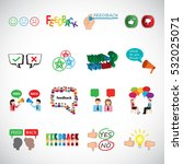 feedback icons set vector... | Shutterstock .eps vector #532025071
