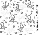 seamless pattern with grey... | Shutterstock .eps vector #532026541