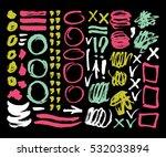 vector ink and paint textures... | Shutterstock .eps vector #532033894