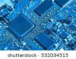 electronic circuit board close... | Shutterstock . vector #532034515