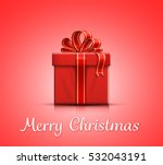 red gift box with ribbon and...   Shutterstock .eps vector #532043191