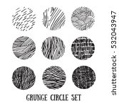 grunge halftone drawing... | Shutterstock .eps vector #532043947