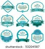 set of design elements | Shutterstock .eps vector #53204587