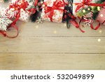 christmas background on the... | Shutterstock . vector #532049899