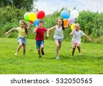 group of happy children... | Shutterstock . vector #532050565
