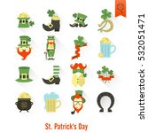 saint patricks day isolated... | Shutterstock . vector #532051471