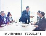 businesspeople interacting in... | Shutterstock . vector #532061545
