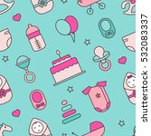 baby. seamless pattern.  vector ... | Shutterstock .eps vector #532083337