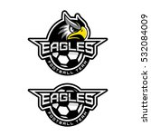 eagle's head logo for a soccer... | Shutterstock .eps vector #532084009
