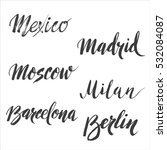 set of hand drawn european... | Shutterstock .eps vector #532084087