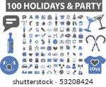 100 holidays   party signs....
