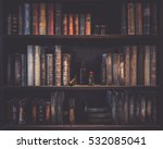 blurred image many old books on ... | Shutterstock . vector #532085041