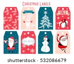 christmas labels | Shutterstock .eps vector #532086679