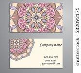 business card. vintage... | Shutterstock .eps vector #532092175
