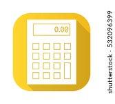 calculator flat design long...   Shutterstock .eps vector #532096399