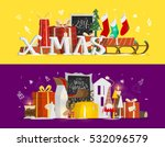 christmas and new year... | Shutterstock .eps vector #532096579