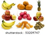 isolated fruits on a white...   Shutterstock . vector #53209747
