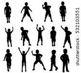 set silhouette of a boy | Shutterstock .eps vector #532103551