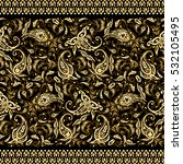 paisley seamless textile... | Shutterstock . vector #532105495