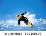 snowboarder extreeme downhill... | Shutterstock . vector #532105609
