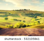 The Famous Tuscan Landscape At...