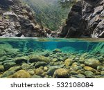 Rocks Over And Under The Water...