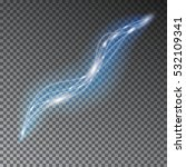 blue line light effect. wave... | Shutterstock .eps vector #532109341