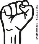 pumping fist | Shutterstock .eps vector #532113451