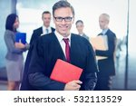 portrait of lawyer holding law... | Shutterstock . vector #532113529