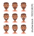 set of male emoji characters.... | Shutterstock .eps vector #532118191