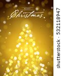 merry christmas greeting card... | Shutterstock .eps vector #532118947