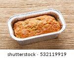 close up banana cake in foil... | Shutterstock . vector #532119919